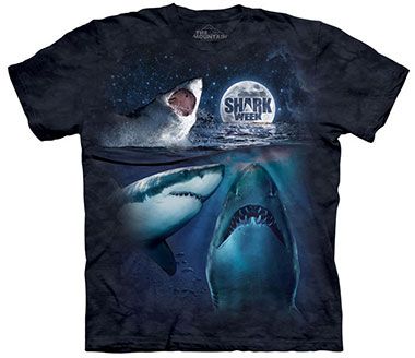 The Mountain - Three Shark Week Moon T-Shirt