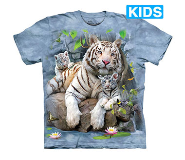 The Mountain - White Tigers of Bengal Kids T-Shirt