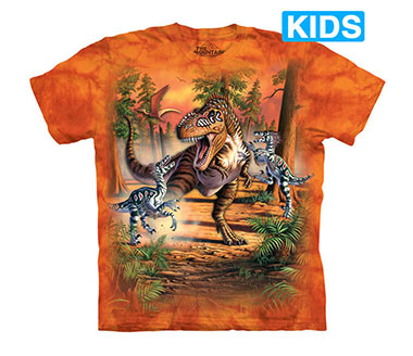 The Mountain - Battle of the Dinos Kids T-Shirt