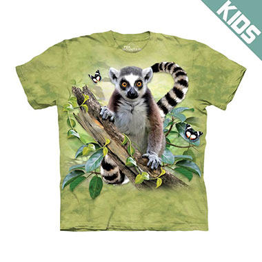 The Mountain - Lemur & Butterflies Kids T-Shirt