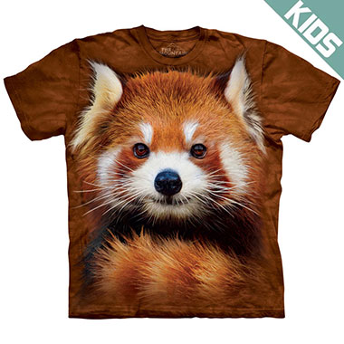 The Mountain - Red Panda Portrait Kids T-Shirt