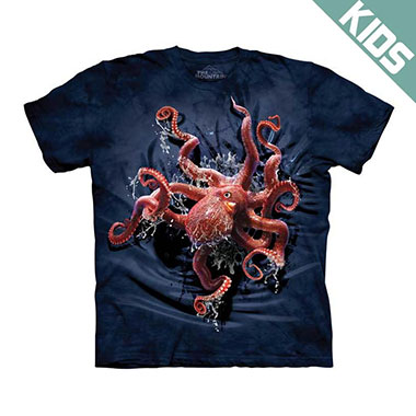 The Mountain - Octopus Climb Kids T-Shirt