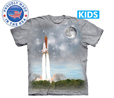 The Mountain - Final Flight To ISS Kids T-Shirt