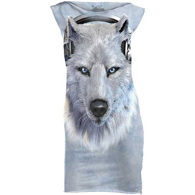 The Mountain - White Wolf Dj T-Shirt Mini Dress