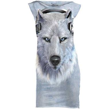 The Mountain - White Wolf Dj T-Shirt Mini Dress