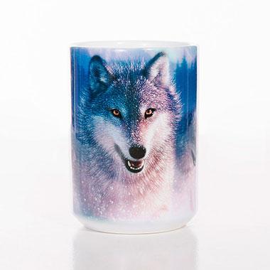 The Mountain - Northern Lights Ceramic Mug