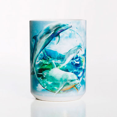 The Mountain - Dolphin Bubble Ceramic Mug