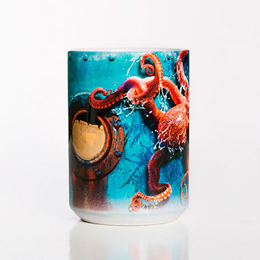The Mountain - Octopus Climb Ceramic Mug