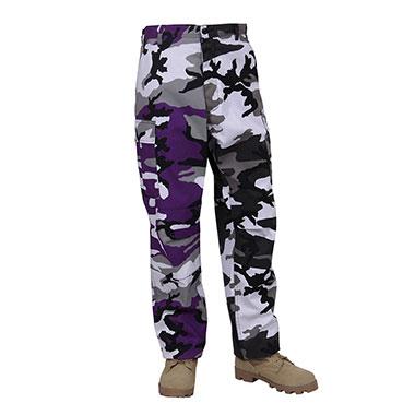 Rothco - Two-Tone Camo BDU Pants - Ultra Violet Purple / City Camo