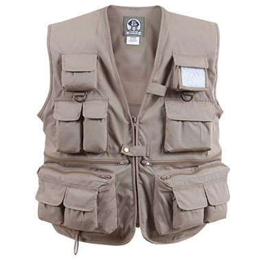 Rothco - Uncle Milty Khaki Travel Vest - Khaki