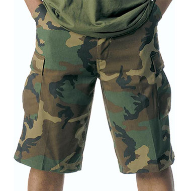 Rothco - Long Length BDU Short - Woodland Camo