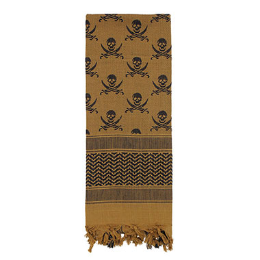 Rothco - Skulls Shemagh Tactical Desert Scarf - Coyote Brown