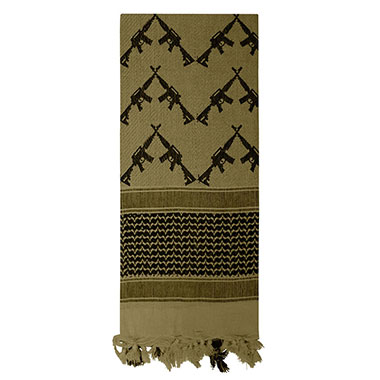 Rothco - Crossed Rifles Shemagh Tactical Scarf - Olive Drab