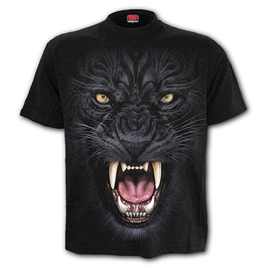 Spiral Direct - TRIBAL PANTHER - T-Shirt Black - T-Shirt Black