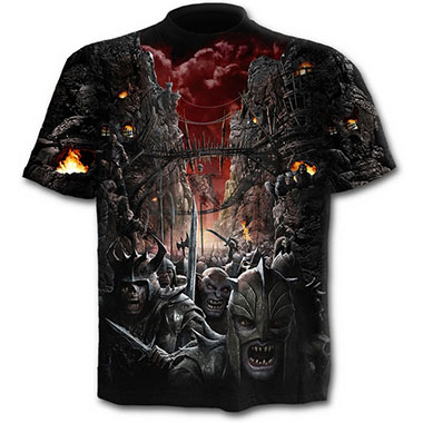 Spiral Direct - DEVILS PATHWAY - Allover T-Shirt Black