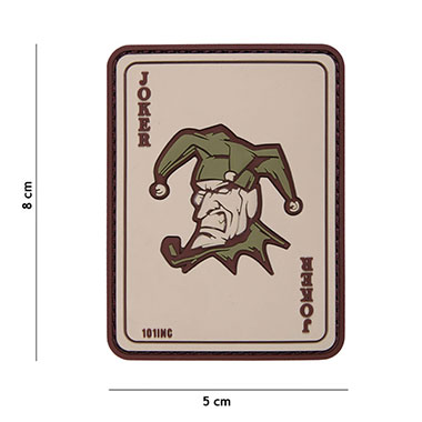 101 inc - Patch 3D PVC Joker coyote