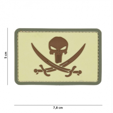 101 inc - Patch 3D PVC Punisher pirate coyote #9046