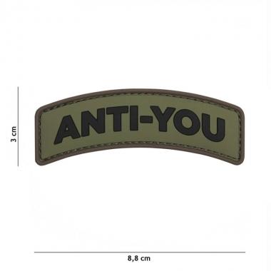 101 inc - Patch 3D PVC Anti-You green #11119
