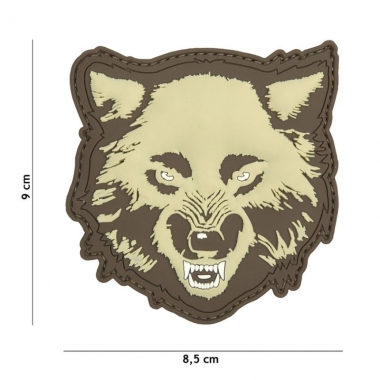 101 inc - Patch 3D PVC Wolf coyote #9055