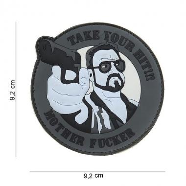 101 inc - Patch 3D PVC Take your hit grey #16084
