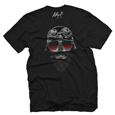 Fifty5 Clothing - Bone Rider Men's T Shirt - Black