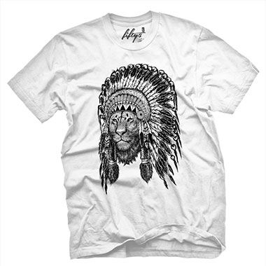 Fifty5 Clothing - Lion Chief Men's T Shirt - White