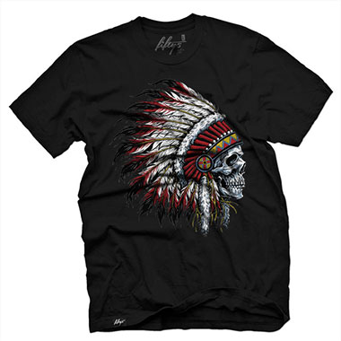 Fifty5 Clothing - Chief Skull Men's T Shirt - Black