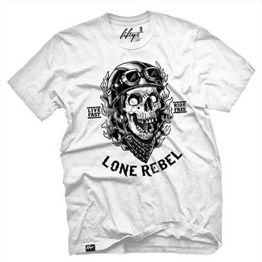 Fifty5 Clothing - Lone Rebel Men's T Shirt - White