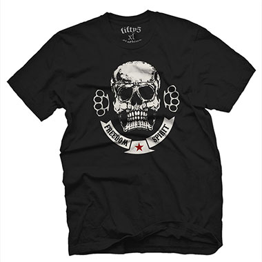 Fifty5 Clothing - Freedom Spirit Mens T-Shirt - Black