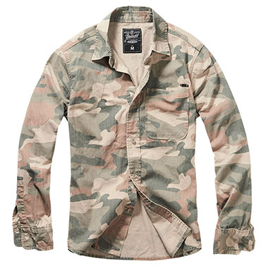 Brandit - Josh Shirt camo - Light Woodland