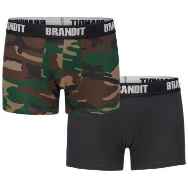 Brandit - Boxershort Logo - Woodland-Black