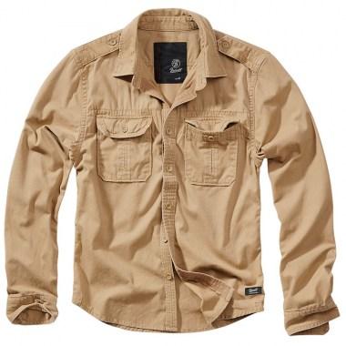 Brandit - Vintage Shirt longsleeve - Camel