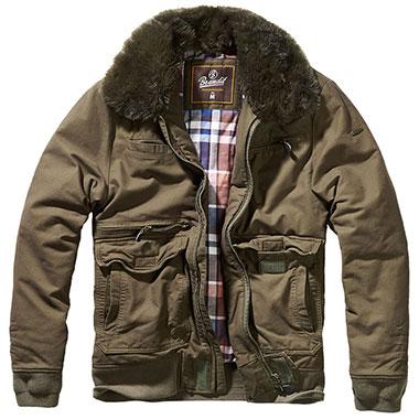 Brandit - Perry Moleskin winterjacket - Olive