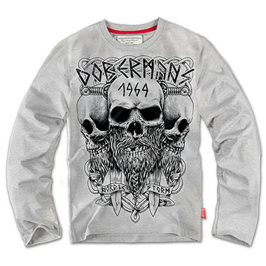 Dobermans - Longsleeve Viking - Grey