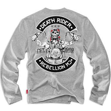 Dobermans - Death Rider Long sleeve shirt - Grey