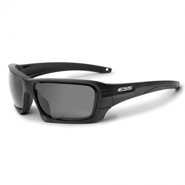 ESS - Rollbar Tactical - Frame Black Logo Silver/Lens Clear, Smoke Gray