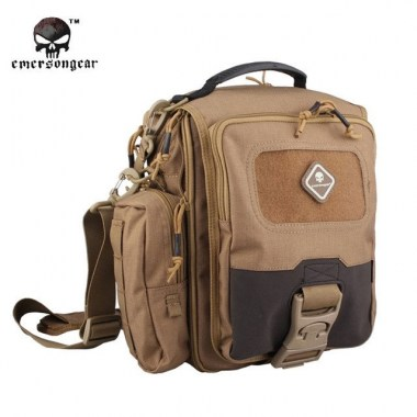 Emerson - Tablet + Netbook Medium-Messenger Bag - Coyote Brown