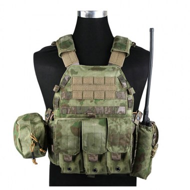 Emerson - LBT6094A style Plate Carrier w 3 pouches - A-tacs FG