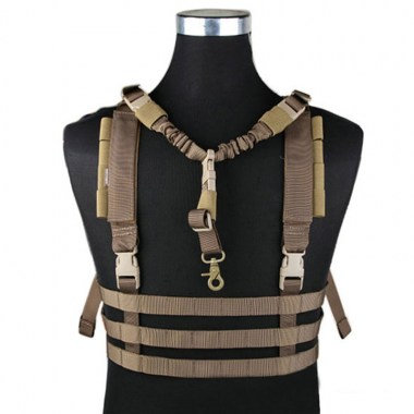 Emerson - MOLLE System Low Profile Chest Rig - Coyote Brown