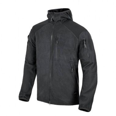 Helikon-Tex - ALPHA HOODIE Jacket - Grid Fleece - Black