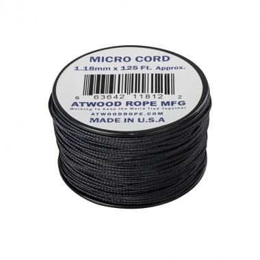 Atwood Rope MFG - Micro Cord (125ft) - Black