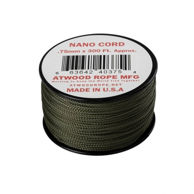 Atwood Rope MFG - Nano Cord (300ft) - Olive Drab