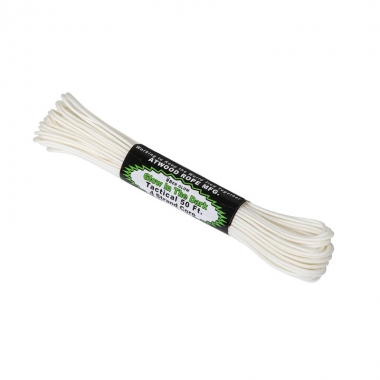 Atwood Rope MFG - Tactical 275 Cord Glow In The Dark (50ft) - White
