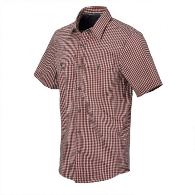 Helikon-Tex - Covert Concealed Carry Short Sleeve Shirt - Dirt Red Checkered