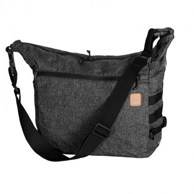 Helikon-Tex - BUSHCRAFT SATCHEL Bag - Nylon Polyester Blend - Black-Grey Melange