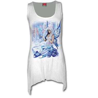 Spiral Direct - WINTER FAIRY - Goth Bottom Vest Dress White