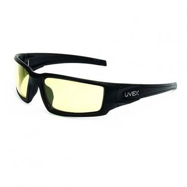 UVEX - Honeywell Hypershock Shooter's Safety Eyewear - Frame Black/Lens Amber