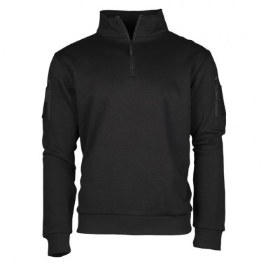 Sturm - Black Tactical Sweat-Shirt With Zipper