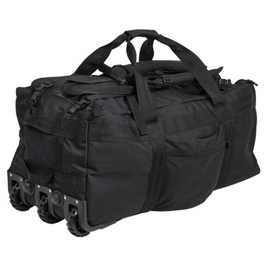 Sturm - Black Combat Duffle Bag With Wheel