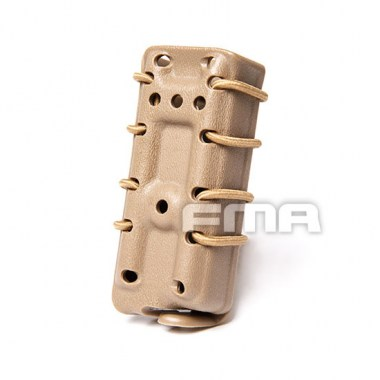 FMA - Scorpion Pistol Mag Carrier- Single Stack For 9mm - Dark Earth